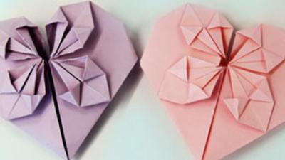 Blue Peter - How to Make an Origami Heart
