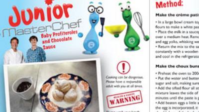 Junior MasterChef - Baby Profiteroles Recipe