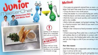 Junior MasterChef - Chicken Liver Paté Recipe
