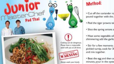 Junior MasterChef - Pad Thai Recipe