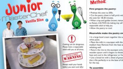 Junior MasterChef - Vanilla Slice Recipe
