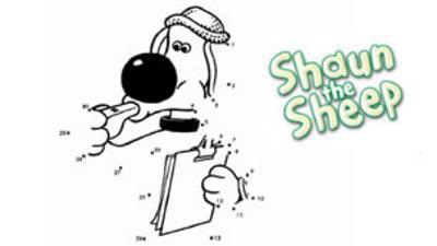 Shaun the Sheep - Bitzer Dot-to-Dot