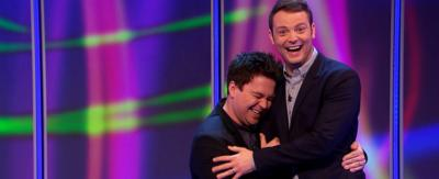 Sam and Mark laughing.