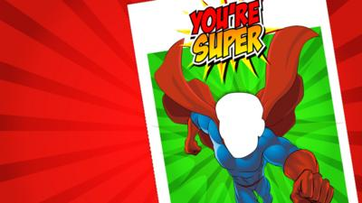 Blue Peter - Print this superhero Father's Day card