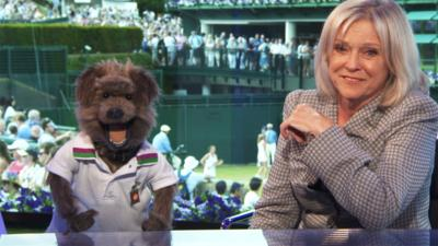 CBBC Office - Hacker Meets Sue Barker at Wimbledon...Again