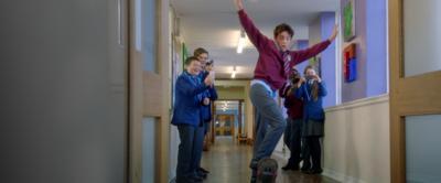 Hank skateboarding