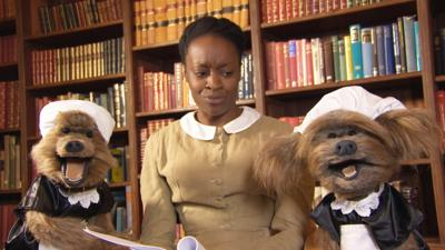 Hetty Feather - Hacker and Dodge on the set of Hetty Feather