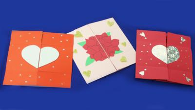 Blue Peter - Make a secret message Valentine's Day card