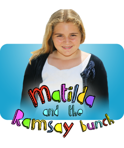 Matilda with the Matilda and the Ramsay Bunch logo