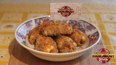 MOTD Kickabout - Sweet Potato, Feta and Pea Croquettes