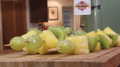 MOTD Kickabout - Pineapple, Kiwi and Grape Skewers