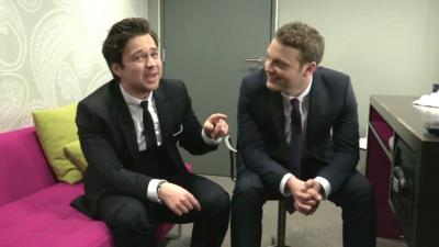 Sport Relief Does Glee Club 2014 - Sam and Mark discuss their bad habits