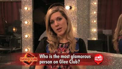 Sport Relief Does Glee Club 2014 - Naomi in the hotseat