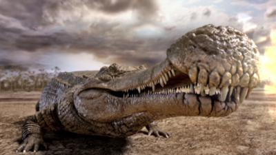 Deadly Pole to Pole - Deadly Dinosaurs - Sarcosuchus