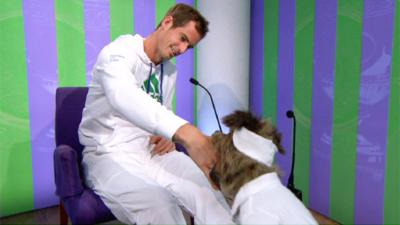 CBBC Office - Hacker licks Andy Murray's hand