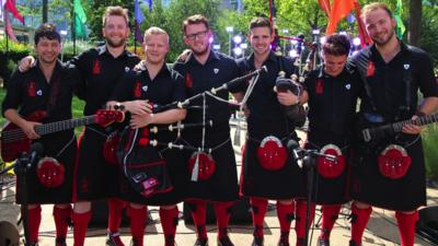 Blue Peter - Red Hot Chilli Pipers Mash Up