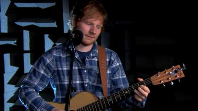 Blue Peter - Ed Sheeran performs 'Thinking Out Loud'