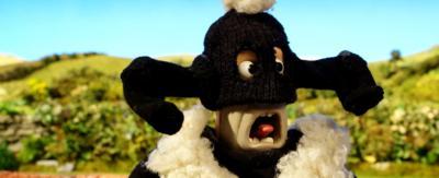 A man dressed as a sheep, badly.