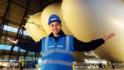 Technobabble - Frankie visits the world's largest aircraft