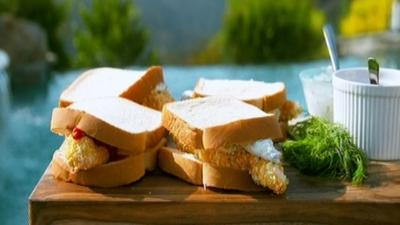 CBBC Dish Up - Fish Finger Sandwiches