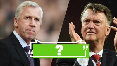 MOTD Kickabout - Quiz: Pardew v Van Gaal - Who Said It?
