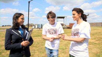 WHOOPS I MISSED THE BUS - Laura and Myles attempt an Officially Amazing world record