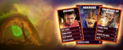 Wizards vs Aliens Card Battler game.
