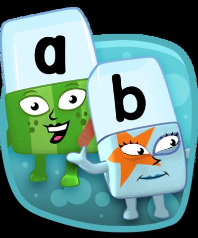 A and B alphablocks.