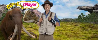 Andy and lots of prehistoric animals