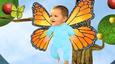 Baby Jake - Baby Jake as a butterfly