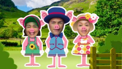Dancing Beebies - Three Little Pigs Game