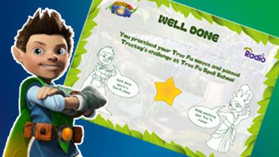 Tree Fu Tom - Tree Fu Spell School Certificate