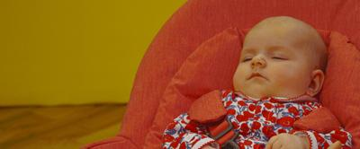 Close up of the CBeebies baby