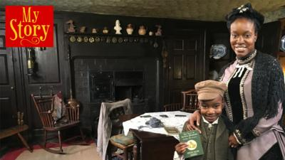 Kia and mummy Georgina from My Story in a Victorian house.