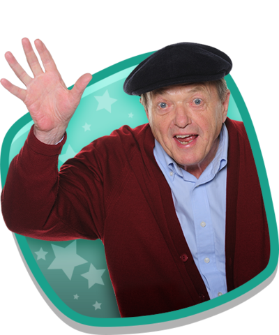 Grandpa waving.