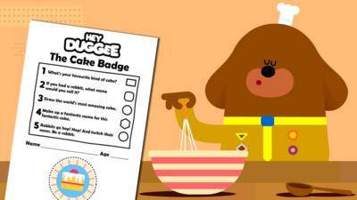 Hey Duggee - The Cake Badge Activity Sheet