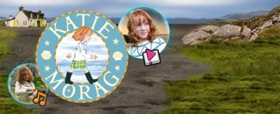 Katie Morag logo surrounded by bubbles.