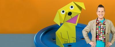 Folded square dog make