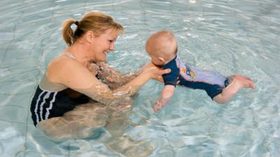 Swimming with babies and toddlers