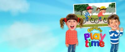 Topsy and Tim and a screenshot from the CBeebies Playtime App