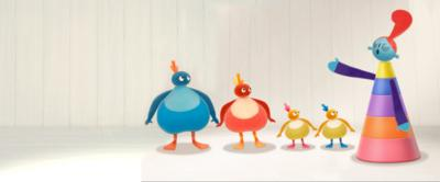 The Twirlywoos and the Very Important Lady.