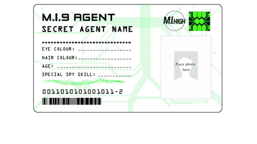 spy id card template the gallery for secret agent badge printable