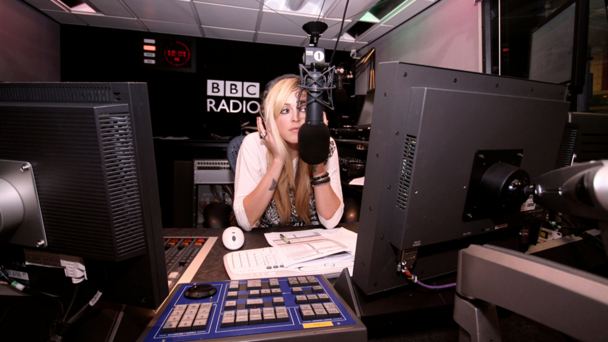 Fearne Cotton in the studio