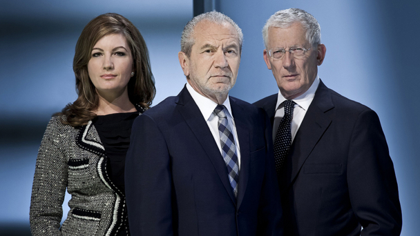 The Apprentice: (l-r) Karren Brady, Lord Sugar, Nick Hewer - Credit: BBC/Talkback Thames/Jim Marks