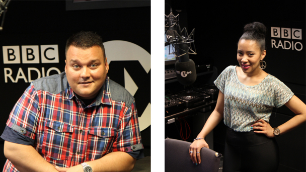 Radio 1Xtra presenters Charlie Sloth and Yasmin Evans