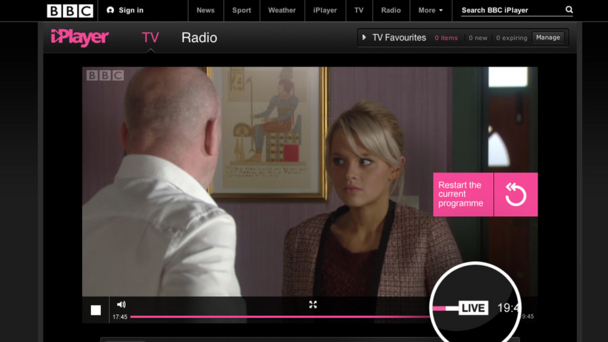 EastEnders - iPlayer Live Rewind