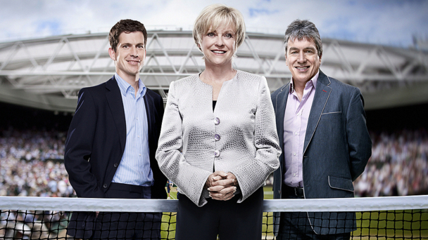 Tim Henman, Sue Barker and John Inverdale