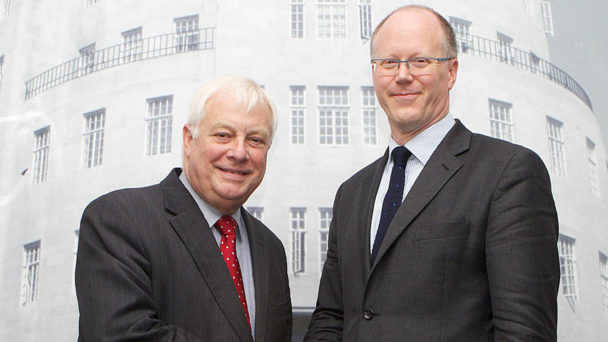 BBC TRUST CHAIRMAN LORD PATTEN AND DIRECTOR-GENERAL DESIGNATE GEORGE ENTWISTLE