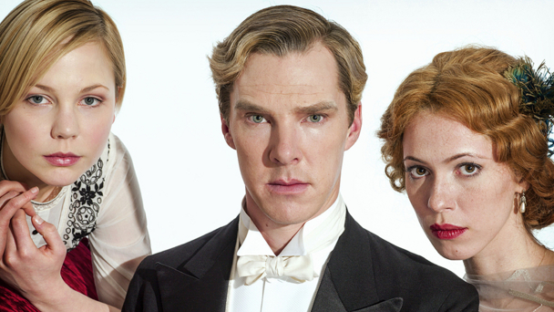 (l-r) Adelaide Clemens, Benedict Cumberbatch and Rebecca Hall in Parade's End