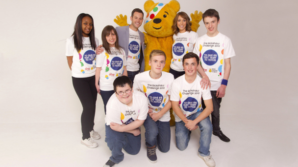 Team Rickshaw with Matt Baker, Pudsey and Alex Jones